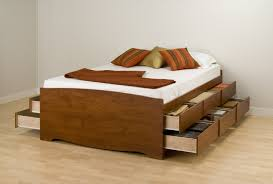 Wooden Bed Wooden Bed With Drawers Under Big Advantages Of Bed With Drawers