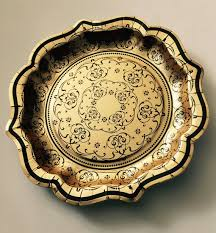bridal shower plate 12 black gold paper plates vintage style baroque fancy