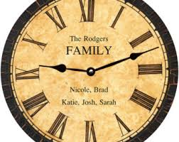 Personalized Clocks With Pictures Family Name Clock Personalized Family Name Clock