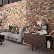 rustic mix brick slip effect tiles old millhouse brick tiles
