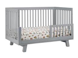 Grey Convertible Crib by Babyletto Hudson 3 In 1 Convertible Crib With Toddler Rail