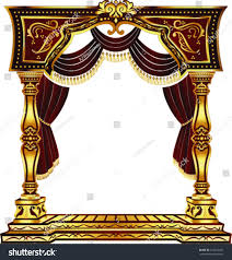 vector red gold classic arch curtains stock vector 210232927