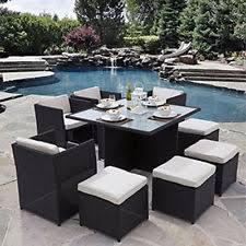 rattan cube patio sets ebay