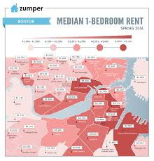 Map Price Mapping Boston Rent Prices This Spring 2016 The Zumper Blog
