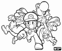 mario bros coloring pages printable games 2
