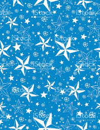 Blue Pattern Background Blue Seamless Pattern Background With Snowflakes And Stars Stock