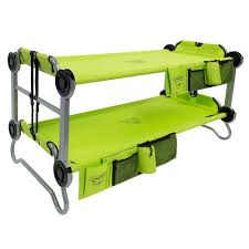 disc o bed kid o bunk 65 in lime green bunk beds with organizers