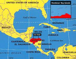 map of roatan honduras honduras on map my