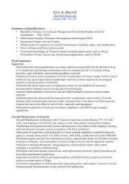 Maintenance Supervisor Resume Template Maintenance Technician Resume Examples Unforgettable Maintenance
