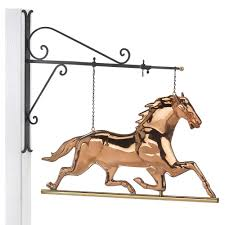 good directions hanging horse pure copper weathervane sign with