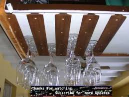 wine glass rack under cabinet youtube