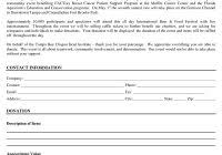 free sponsorship form template resumesdesign free best