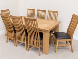 Oak Dining Chairs Dining Table 8 Chairs Oak Gallery Dining