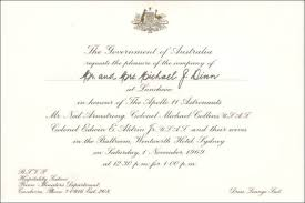 lunch invitation cards apollo 11 sydney lunch november 1969
