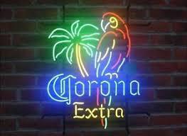 palm tree neon light new corona extra parrot palm tree neon light sign 20 x16 ebay