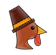 vector thanksgiving illustration with turkey royalty free stock