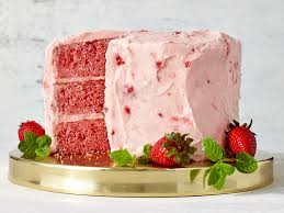 strawberry cake with strawberry buttercream frosting recipe