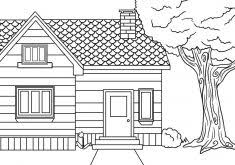 house coloring pages printable coloring kids