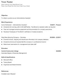 chronological resume format example 87 enchanting easy resume