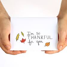 thanksgiving card thankful card i m thankful for you