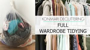 konmari decluttering before u0026 after tidying clothing youtube