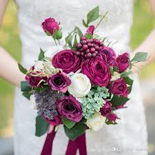 bridal bouquet 2017 bridal bouquets burgundy berry handmade