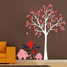 oversize high150cm elephant tree wall decals wall mural nursery