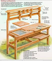 awesome potting bench plans bench plans bench and pallets