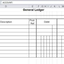 bookkeeping general ledger template archives word templates
