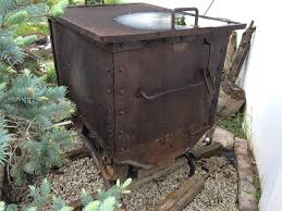 Old Fire Pit - old mine cart by fire pit to store wood made late 1800 u0027s early