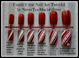 candy cane nail art tutorial by nevertoomuchglitter