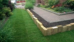 Garden Sleeper Ideas Vertical Sleeper Walls Use To Screen End Of Garden Even As