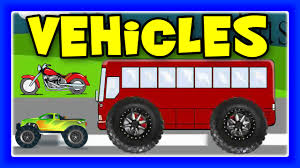 monster street vehicles trucks bus train cars and tractors