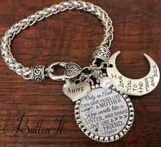 aunt gift gifts for aunt aunt bracelet i love you to the moon