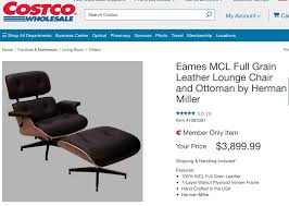 costco selling the eames lounge chair for 3900 malelivingspace