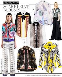 scarf blouse scarf print blouses whowhatwear