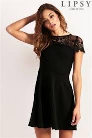 black skater dress lipsy skater dresses skater party occasion dresses next