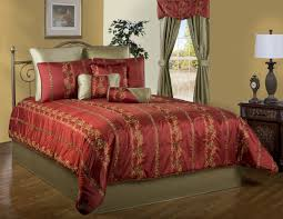 Red Gold Comforter Sets Red And Gold California King Comforter Sets With Richly Woven