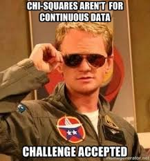 Challege Accepted Meme - barney challenge accepted chi square meme the lovestats blog