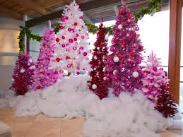 pink christmas tree color your christmas with these 10 artificial trees hgtv s