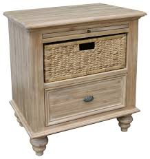 Night Tables Ashwell Night Stand With Baskets Farmhouse Nightstands And