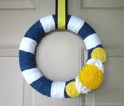 summer wreath diy summer wreath navy yellow