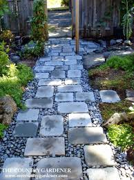 an inexpensive option for a beautiful path flagstones and river