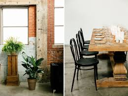 The Foundry Home Goods by Nyc Meets Montreal For This Industrial Urban Wedding Green