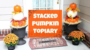 pumpkin topiary diy stacked pumpkin topiary fall decor idea easy fall diy