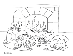 free printable winter coloring pages for kids inside color