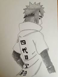 i drew the 4th hokage today while bored in class it u0027s not too