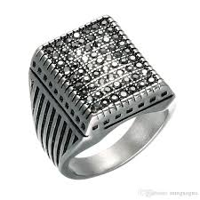 black crystal rings images Punk black crystal pave square mens signet rings gold silver color jpg