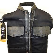 biker jacket vest men u0027s club black denim vest w leather trimming u0026 zipper extreme