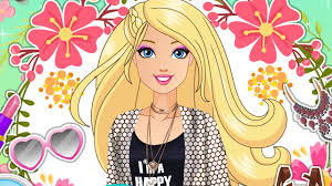 barbie glamping cartoon dress makeup games girls